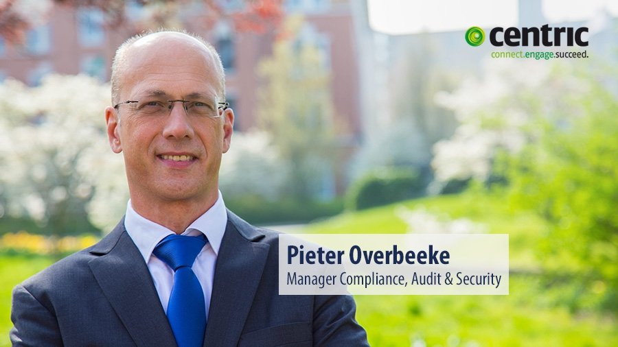 Pieter Overbeeke, Manager Compliance, Audit & Security bij Centric