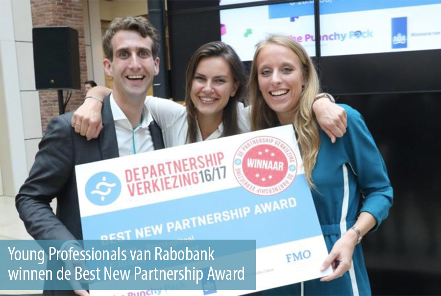 Young Professionals van Rabobank winnen de Best New Partnership Award