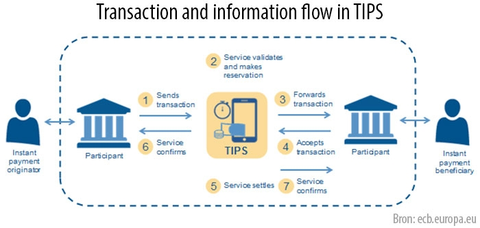 Transaction and information flow in TIPS