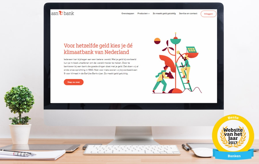 ASN Bank heeft beste website