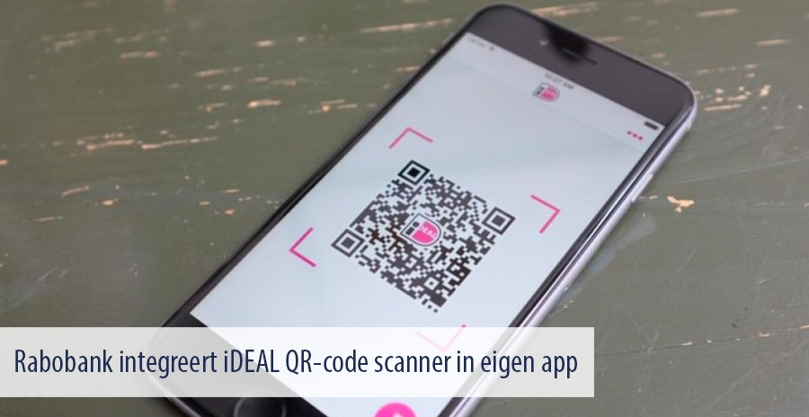 Rabobank integreert iDEAL QR-code scanner in eigen app
