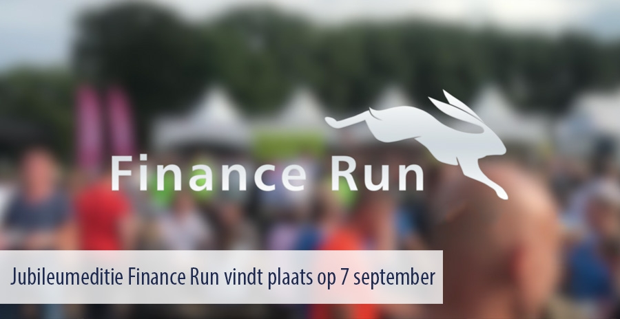 Jubileumeditie Finance Run vindt plaats op 7 september