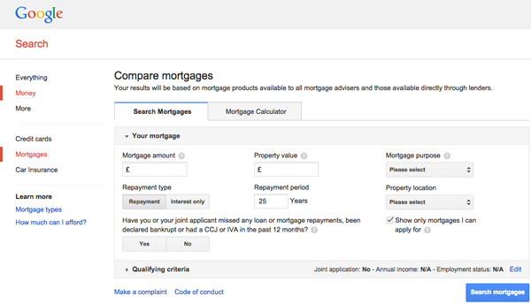 Google Mortgages